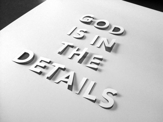 god is in the details   cinqpoints