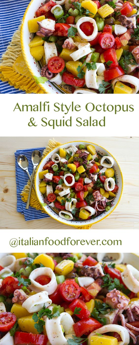 Amalfi Style Octopus & Squid Salad - A tasty seafood salad that I ...