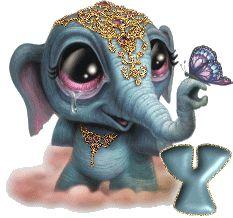 Oh my Alfabetos!: Alfabeto pequeño elefante hindú.
