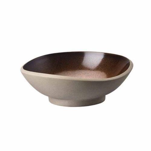 Rainy Day Glossy Ceramic Stamped Large Ceramic Bowl