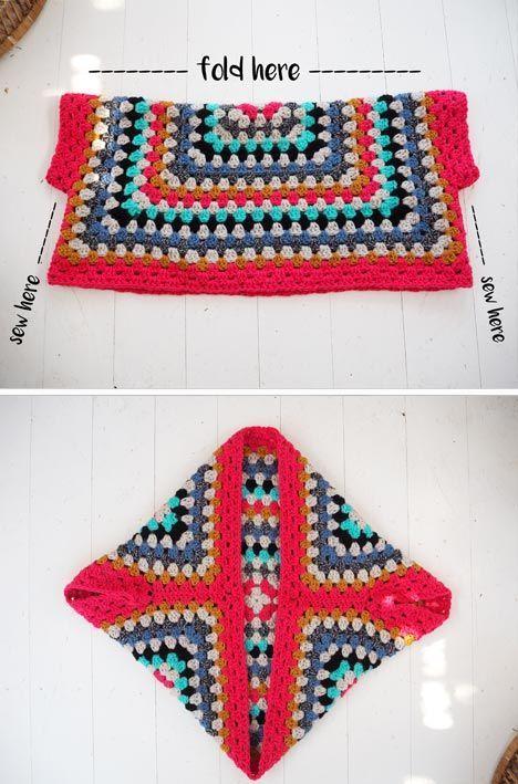 Lululoves - Crochet Granny Square Shrug: