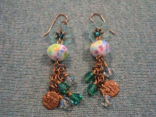 Spring Dragonfly Earrings-today I am wishing Spring would arrive.