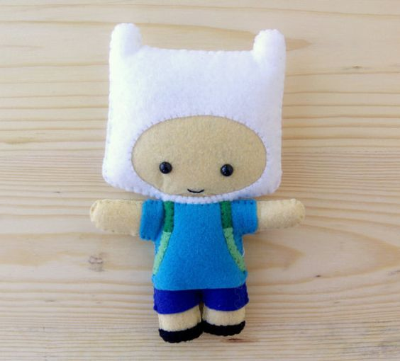 Finn The Human cute plush felt doll  Adventure Time by HappyAkindo