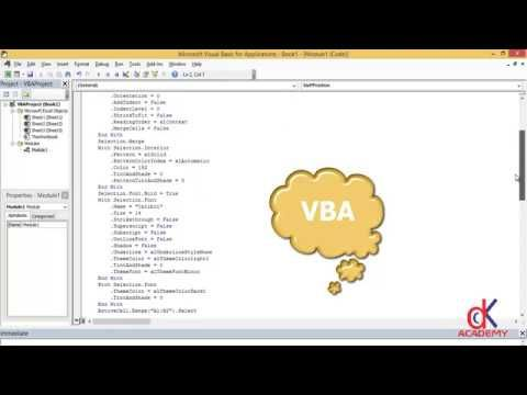 Ms Excel Vba Tutorial How To Record A Vba Macro Excel Macros