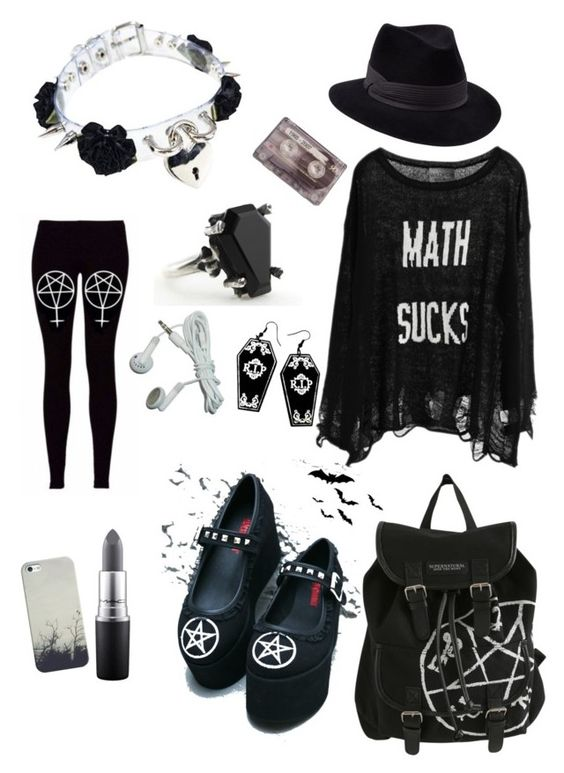 """""""Senza titolo #33"""" by neptunefiction ❤ liked on Polyvore featuring Wildfox, Demonia, MAC Cosmetics, Casetify, Penmayne of London and CASSETTE"""