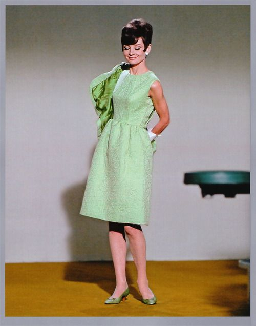 Audrey Hepburn. How to Steal a Million costume test, 1966.  scan by rareaudreyhepburn from the book Audrey The 60s (David Wills and Stephen Schmidt)