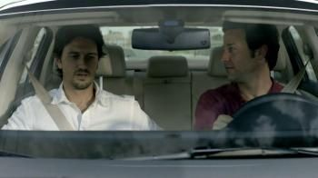 This commerical shows two friends on a road trip. The passenger wants to listen to music, but the driver insists on listening to Spanish tapes. When they stop for gas, the passenger using Spanish to tell him that he can't believe they drove thirteen hours with no music! The driver responds, also in Spanish, and asks him to buy some chips.- iSpot.tv