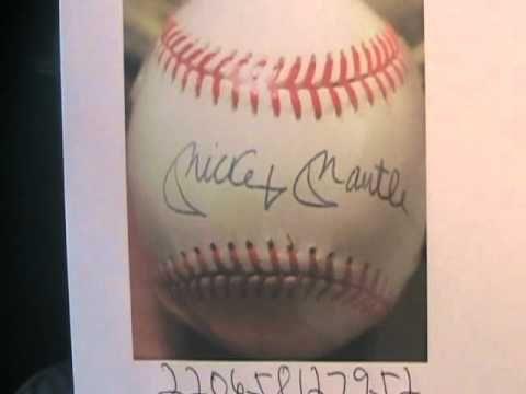 Fake Autographs Ebay Mickey Mantle Signed Baseball Autographed Youtube Autographed Baseballs Mickey Mantle Mantle