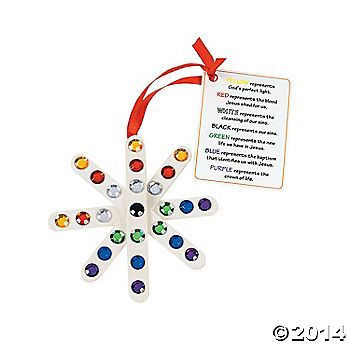 """Colors of Faith"" Craft Stick Snowflake Ornament with Card Craft Kit--CS ornament project idea"