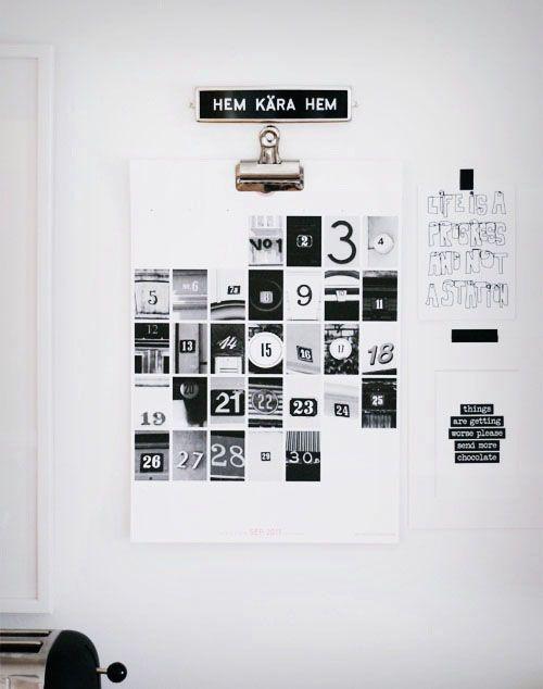 calendar: Creative Calendar, Diy Calendar, Calendar Design, Wall Calendar, Originales Calendarios, Poster Idea, Numbers Art, Calendar Idea, Number Calendar