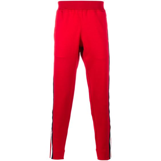 GUCCI Cotton Track Pants ($775) ❤ liked on Polyvore featuring men's fashion, men's clothing, men's activewear and men's activewear pants
