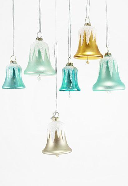 Glittered Bell Ornaments