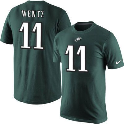 NFL Philadelphia Eagles Carson Wentz Nike Name & Number T-Shirt