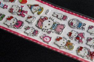 """2 x """"Hello Kitty"""" Stationary Fashion Decoration Stickers Decals by La Demoiselle. $1.99"""