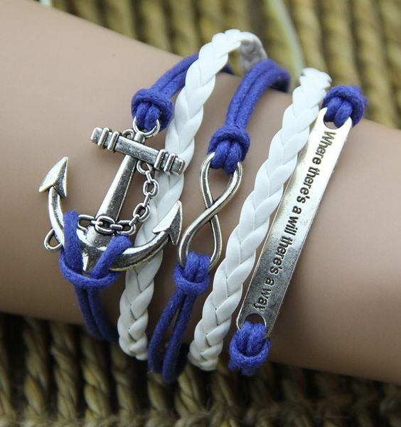 Silver Anchor And Motto Plate Handmade White Blue Rope Woman's Retro Bracelet #jewelry #fashionjewelrystores #jewelryfashion #fashionjewelrywebsites #discountfashionjewelry #fashioncostumejewelry #goldfashionjewelry #fashionjewelrystore #fashionjewelryaccessories #fashionjewelrysets #trendyfashionjewelry #newfashionjewelry #fashionjewelryearrings #fashionandjewelry #fashionjewelrymanufacturers #mensfashionjewelry #buyfashionjewelry #jewelryinfashion #highfashionjewelry…