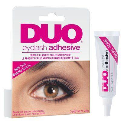 Duo Water Proof Eyelash Adhesive, Dark Tone - 0.25 Oz Duo http://www.amazon.co.uk/dp/B000NOLZDY/ref=cm_sw_r_pi_dp_XNTDwb1ZCQ5ZT