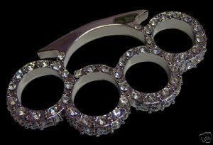 brass knuckles w/ diamonds because every girl needs these...wha?!