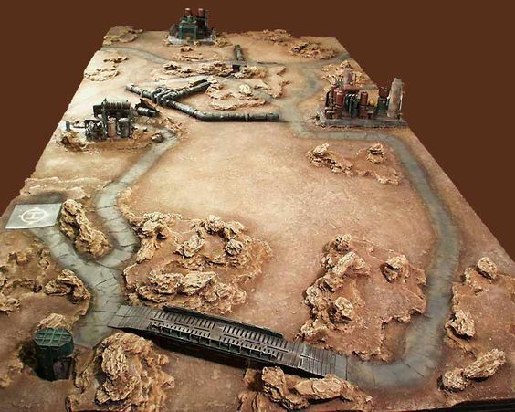 A 8x4 mechwarrior table built for wizkids by ironhands for Decor 40k