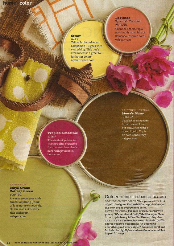 Warm Color Palette - Better Homes & Gardens