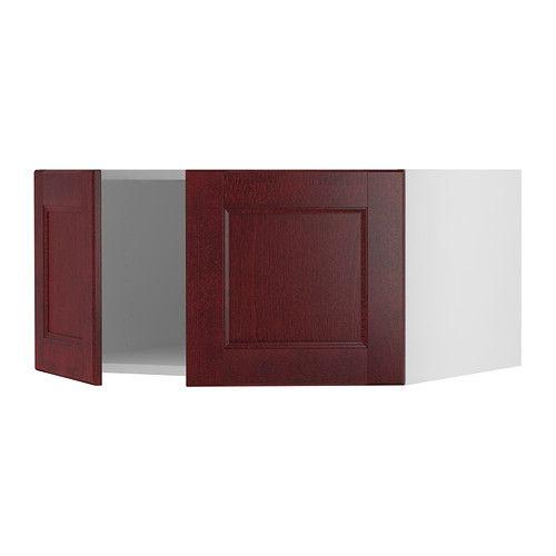 Akurum top cabinet to refrigerator birch effect ramsj red brown 36x18x24 ikea banquette - Kitchen banquette ikea ...