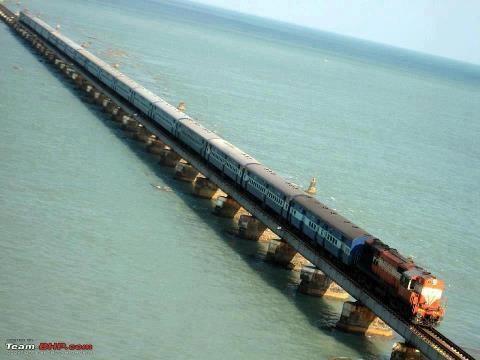 Pamban Bridge, Rameshwaram, Tamilnadu.