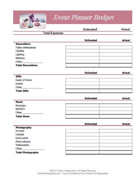 FREE Printable Budget Worksheets u2013 Download or Print Worksheets - free event proposal template download