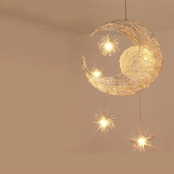 Luminaire en forme de lune par Ali Express