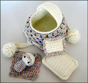 Crochet Baby Purse : Download Crochet Baby Cradle Purse Pattern Sewing Pattern Dolls ...