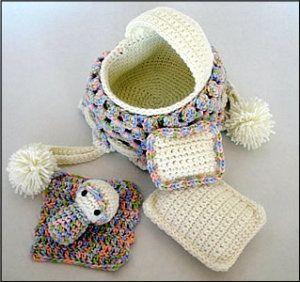 Download Crochet Baby Cradle Purse Pattern Sewing Pattern Dolls ...
