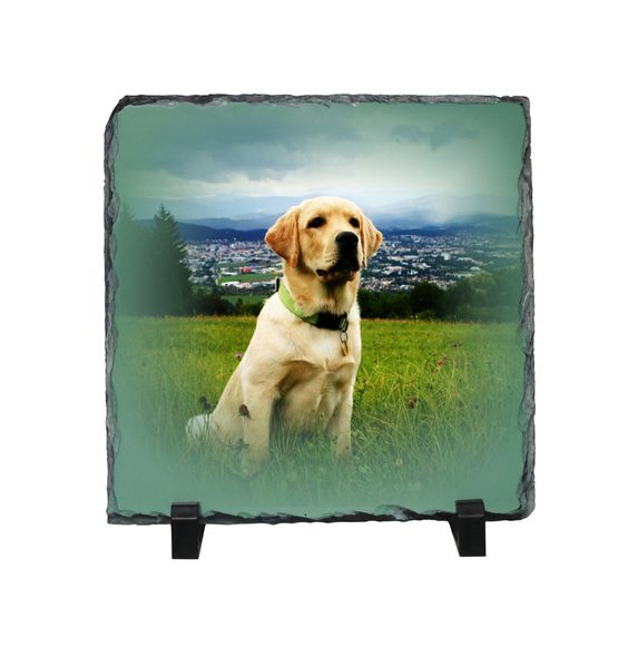 Custom Stone Photo Slate, desktop picture display, home and office decor,Personalized Gifts by PHOTOgiftsKALUCAart on Etsy