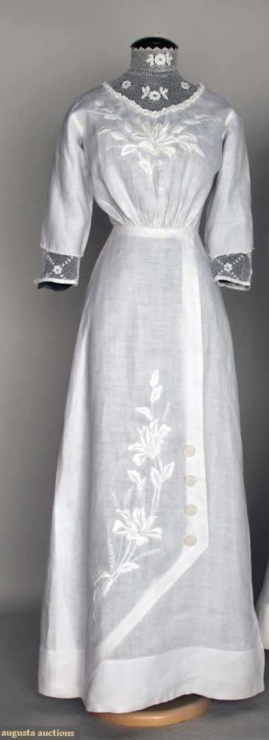 Edwardian dress 1908   Augusta Auctions: