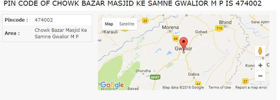 Get detailed information of pin code of Chowk Bazar Masjid Ke Samne Gwalior M P.You can also search post offices pin code in Chowk Bazar Masjid Ke Samne Gwalior M P.