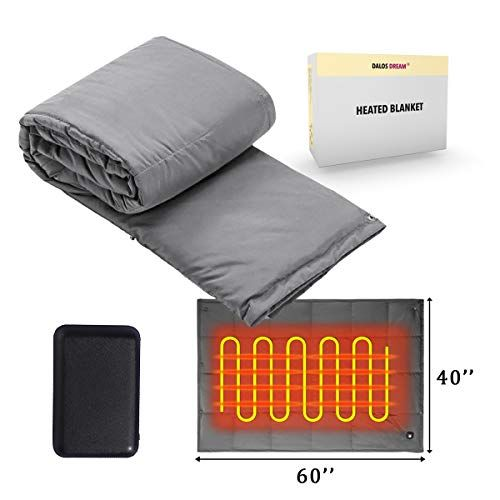 Battery Powered Heated Blanket Throw Super Fast Heating Electric Blanket Outdoor Activity Body Warming Usb Heated Throw Blanket Travel Blanket Office Blanket Ou In 2020 Heated Throw Blanket Heated Blanket Battery