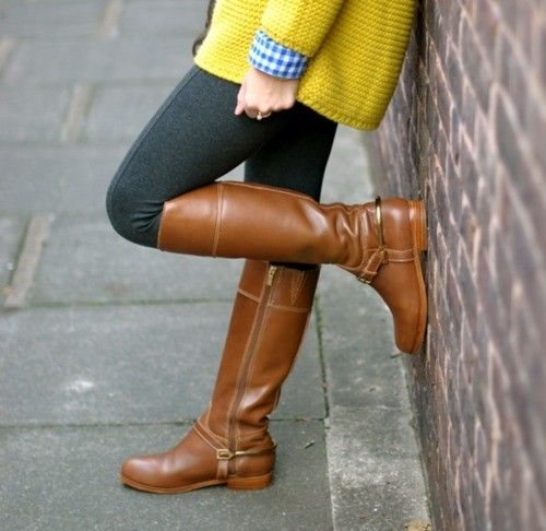 sweater, tights, and boots