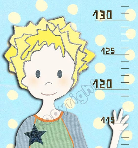 Boys Canvas Growth Chart Personalized Metric Or Feet  By Rotemz