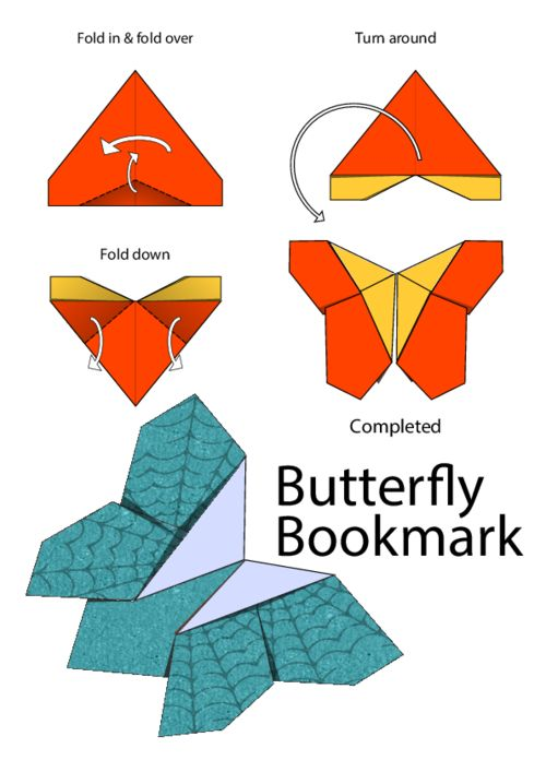 bookmarks origami butterfly and how to fold on pinterest
