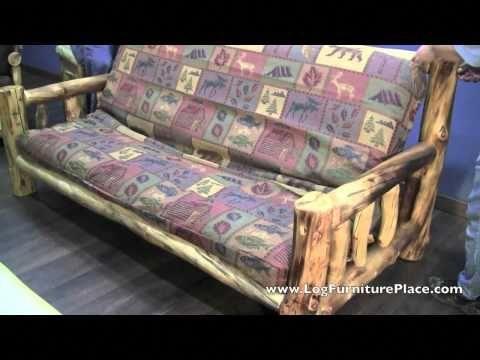 Cedar Lake Easy Glide Log Futon Rustic Log Sleeper Sofa Youtube Leathersectionalsofas Futon Leather Sectional Sofas Sofa