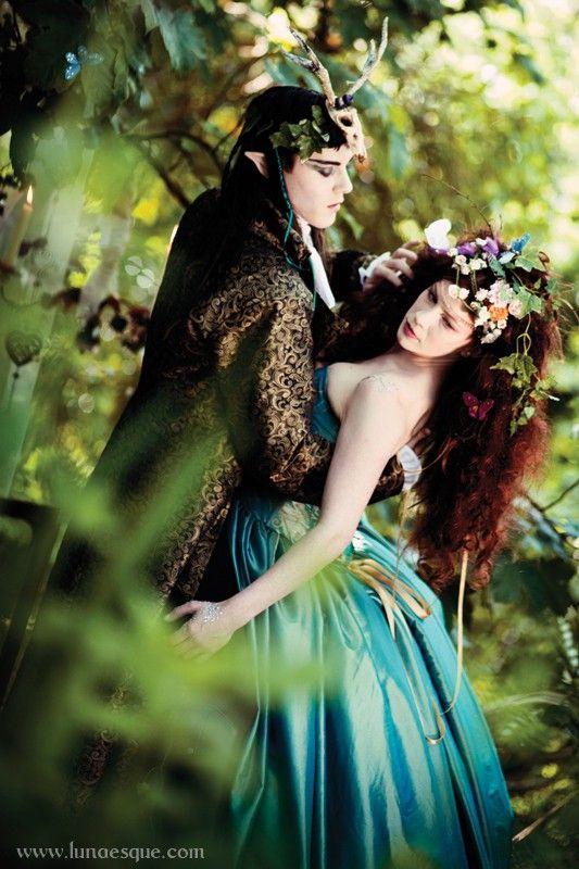Lunaesque Fantasy Photography - Midsummer Nights Dreaming, Faerie Wedding