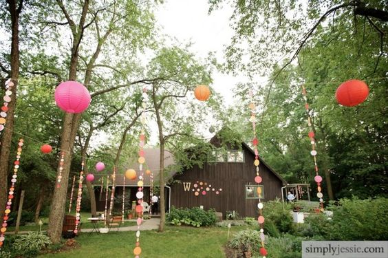 cute wedding decorations for the yard