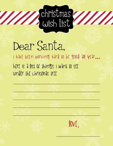 Free Printable Christmas Eve Milk and Cookies Sign for Santa - printable santa wish list