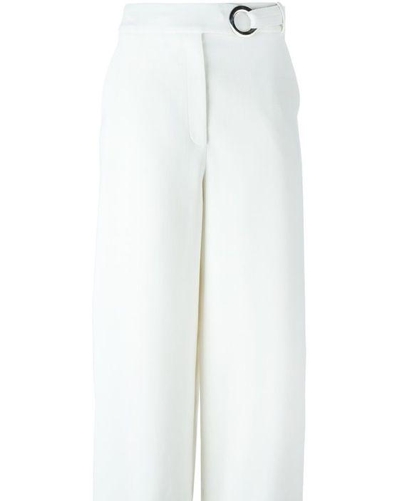 PROENZA SCHOULER WIDE LEG CULOTTES WOMEN'S SIZE: 2 WHITE POLYESTER/SPANDEX/ELASTANE/WOOL Blue stretch wool: Wide leg: Culottes: Proenza Schouler  Price: $1222.70  Buy now: https://goo.gl/uB7rDy  #ProenzaSchouler #WideLegCulottes #Women #Size4 #MusteredLady #MusteredLady