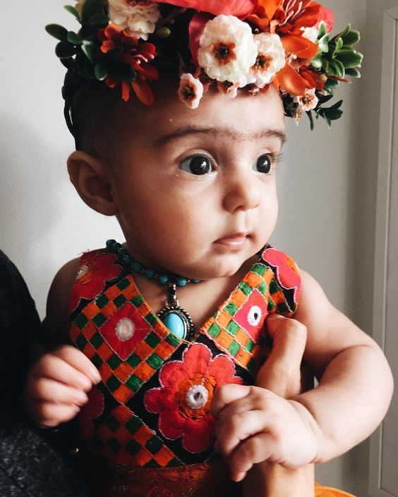 "nicole gonzalez on Instagram: "" MI BEBE. FRIDA KAHLO.  #fridakahlo @kenziejaws @littlemoon_clothing"""