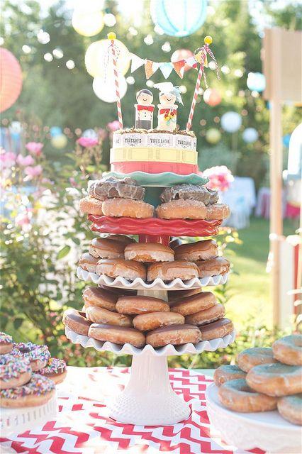 Carnival Doughnut Cake