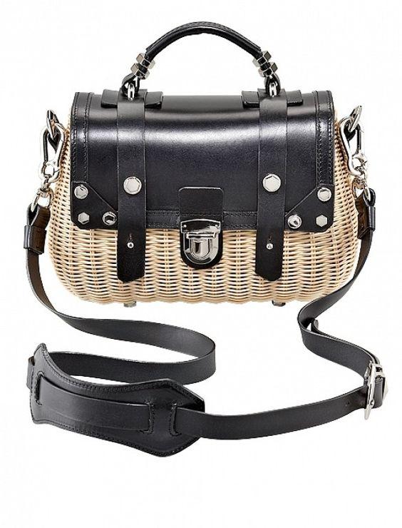 Picnic Basket Bags via @WhoWhatWear: