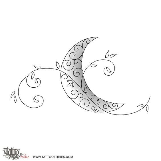 tatuaggio luna stilizzata - Cerca con Google