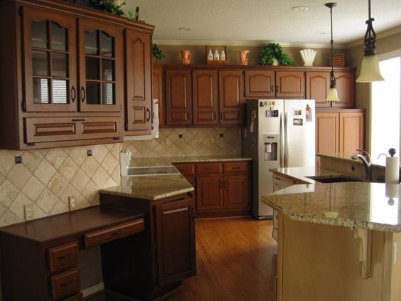 brown cabinets brown oak cabinets wall tiles kitchens tile cabinets