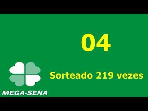 Os 5 Numeros Mais Sorteados Da Mega Sena Youtube Mega Sena Sena