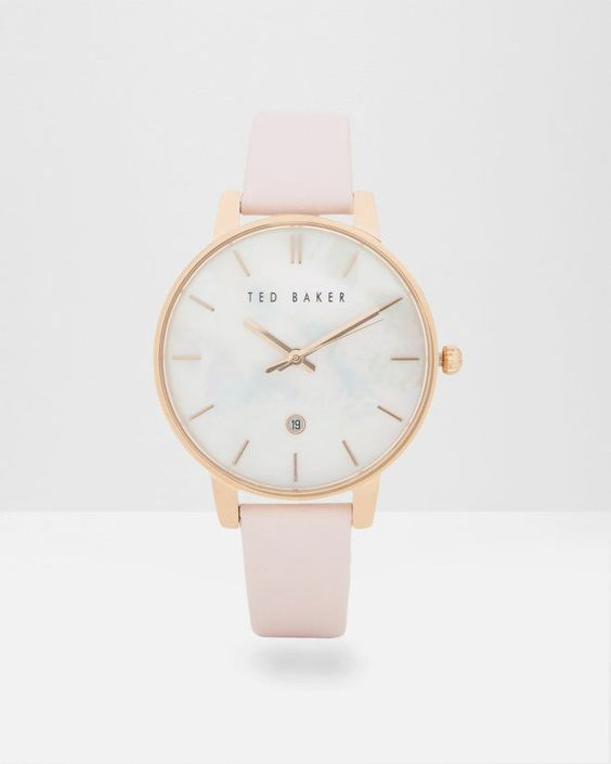26423 PEARL FACE LEATHER WATCH - Nude Pink | Gifts for Her | Ted Baker