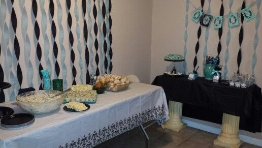 Baby shower luncheon setup