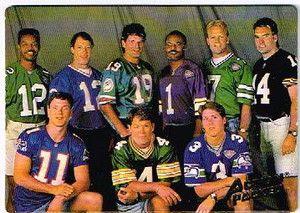 Promotional NFL Quarterback 3 D Effect All Famous Quarterbacks..Collector's Item
